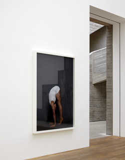 Jo Longhurst, Installation view: <em>Peak</em>, 2012, chromogenic print in white wood box frame with plexiglas, 168 x 117cm, Mostyn, Llandudno, 2012