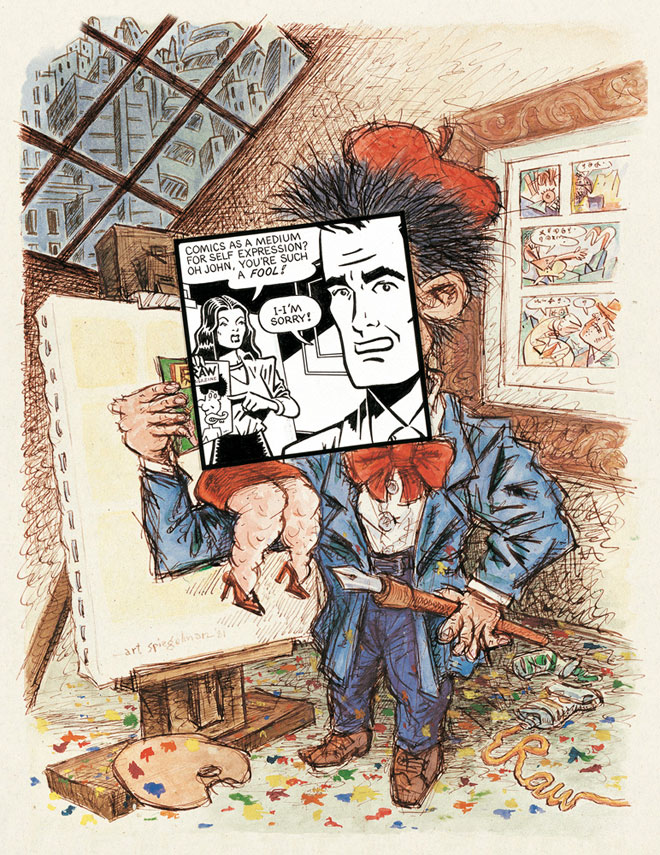 Art Spiegelman, Cover art for Print magazine, May/June 1981