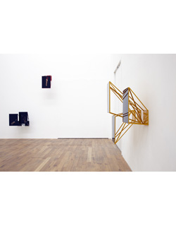Jo Longhurst, Installation view: <em>Space-Force Constructions</em>, 2012, chromogenic prints and plexiglas, each 406mm x 609mm, powder coated aluminium frameworks, Mostyn, Llandudno, 2012