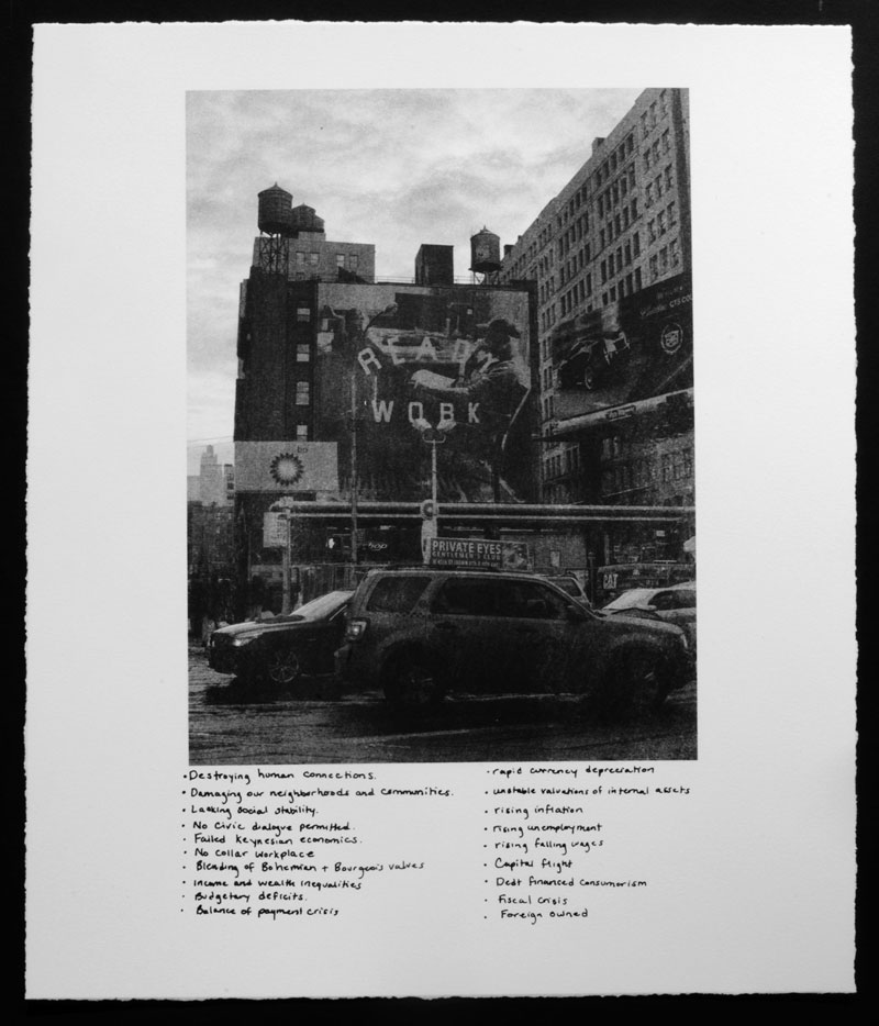 LaToya Ruby Frazier, <em>Broadway & Lafayette</em> from the series <em>Campaign For Braddock Hospital (Save Our Community Hospital)</em>, 2011, photolithography and silkscreen, 43.18 cm x 35.56 cm