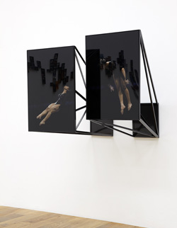 Jo Longhurst, Installation view: <em>Space-Force Construction No.3 (India)</em>, 2012,chromogenic prints and plexiglas, powder coated aluminium frameworks, each 406mm x 609mm,   Mostyn, Llandudno, 2012