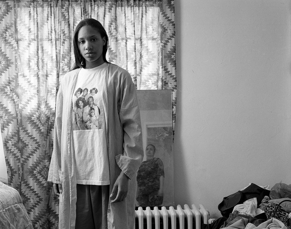 LaToya Ruby Frazier, <em>Huxtables, Momme and Me</em> from the series <em>Notion of Family</em>, 2008, gelatin silver print, 50.8 cm x 60.96 cm