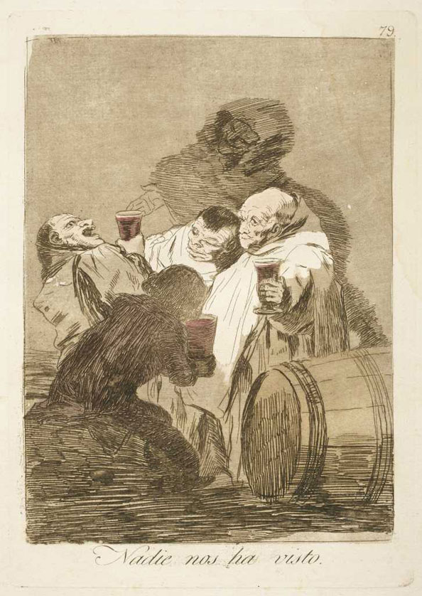 Francisco Goya y Lucientes. No one has seen us, 1799