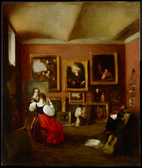 Mary Ann Rebecca Alabaster, The Artist's Painting-Room, 1830