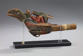Tsimshian Artist, Northern British Columbia, Raven Rattle, around 1870