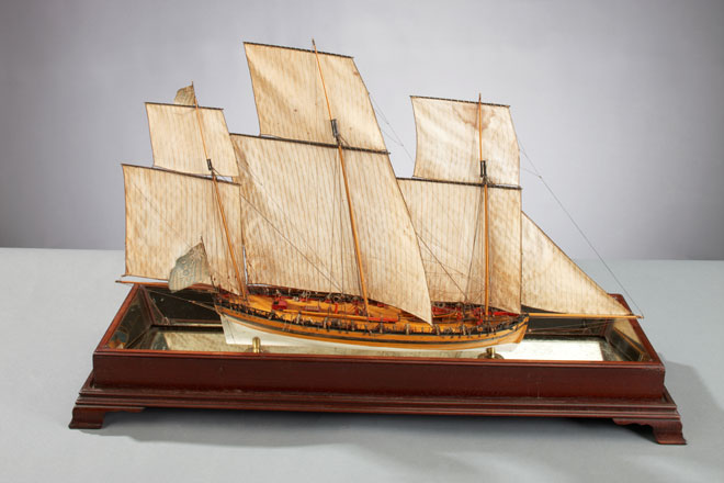 "British Revenue Lugger, ""Alarm"", around 1782"