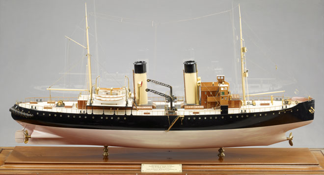 "Russian Icebreaker, design for two vessels: ""Kosmá Mínin"" and ""Kniáz Pojársky"", 1916"