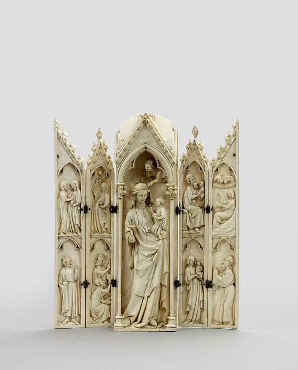 Unknown, France (Paris), Polyptych: Virgin and Child, and Scenes from the Infancy of Christ, 1325–1350