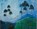 Emily Carr (Canadian, 1871 – 1945), <em>Stumps and Sky</em>, 1934, oil on paper. Gift from the Douglas M. Duncan Collection, 1970.