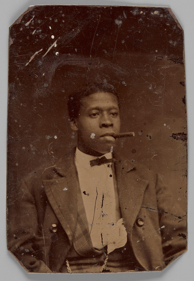 Unknown. [Unidentified man with a cigar], 1870-1880