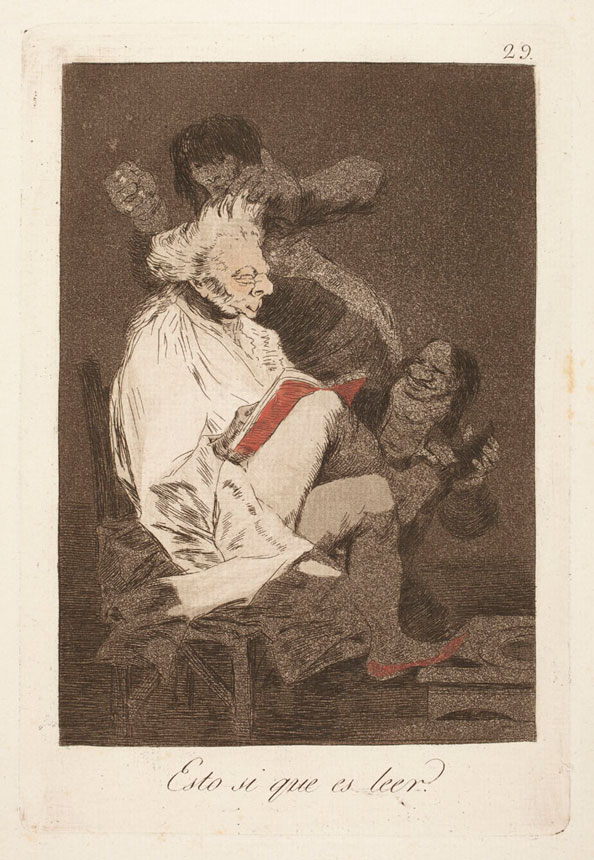 Francisco Goya y Lucientes. That certainly is being able to read, 1799
