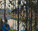 Tom Thomson (Canadian, 1877 – 1917), <em>Study for Northern River</em>, 1914 - 1915, graphite, brush and ink and gouache on illustration board. Purchase, 1982.