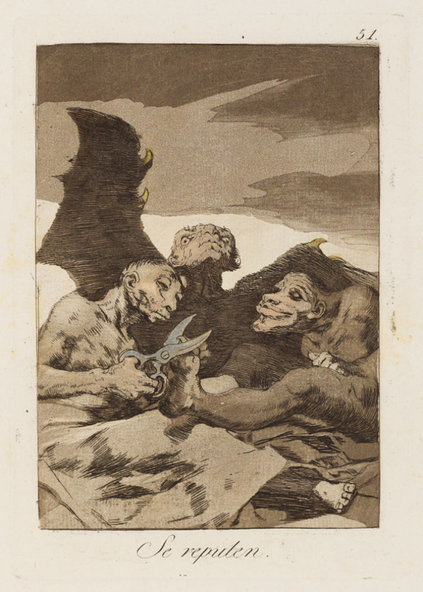 Francisco Goya y Lucientes. They spruce themselves up, 1799