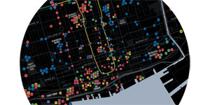 map that is a comprehensive visual view of public art in Toronto
