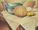 Bertram Brooker (Canadian, 1888 – 1955), <em>Still Life with Lemons</em>, c. 1936, oil on canvas. Gift from the J.S. McLean Collection, by Canada Packers Inc., 1990.
