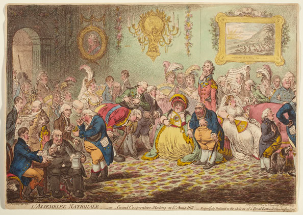 James Gillray. L'Assemblée Nationale, 1804