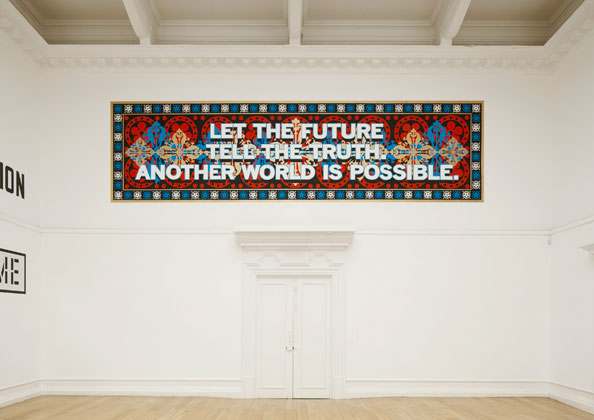 Mark Titchner, LET THE FUTURE TELL THE TRUTH. ANOTHER WORLD IS POSSIBLE., 2010