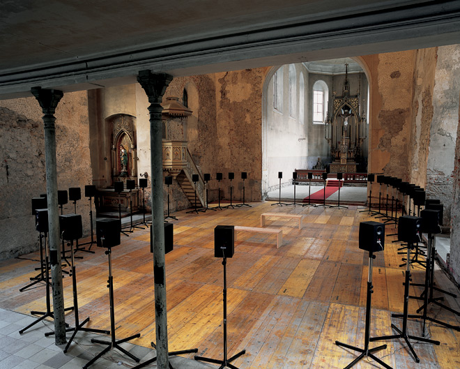 Janet Cardiff, The Forty Part Motet, 2001