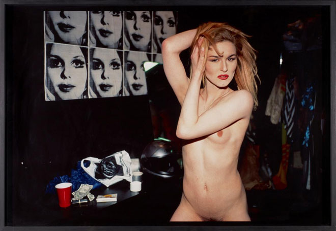 Nan Goldin, Cody in the Dressing Room at the Boy Bar, NYC, 1991