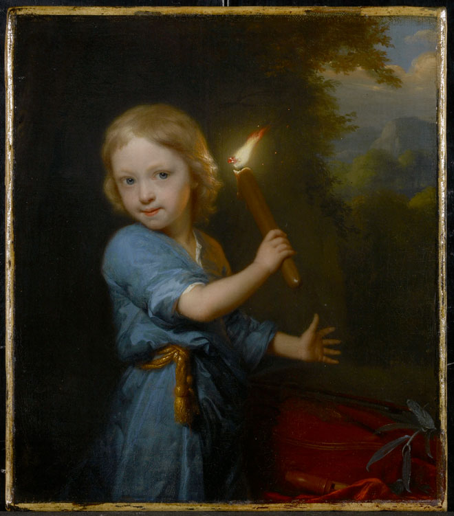Godfried Schalcken, Boy Holding a Torch, 1692