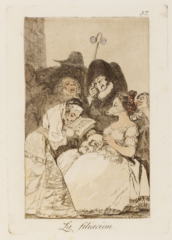Francisco Goya y Lucientes. The filiation, 1799