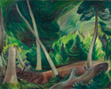 Emily Carr (Canadian, 1871 – 1945), <em>Study in Movement</em>, 1936, oil on canvas. Purchased by the Art Gallery of Ontario, 1937.