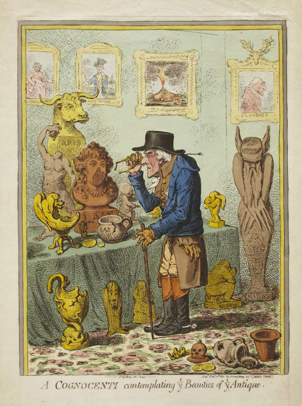 James Gillray. A Cognoscenti, 1801