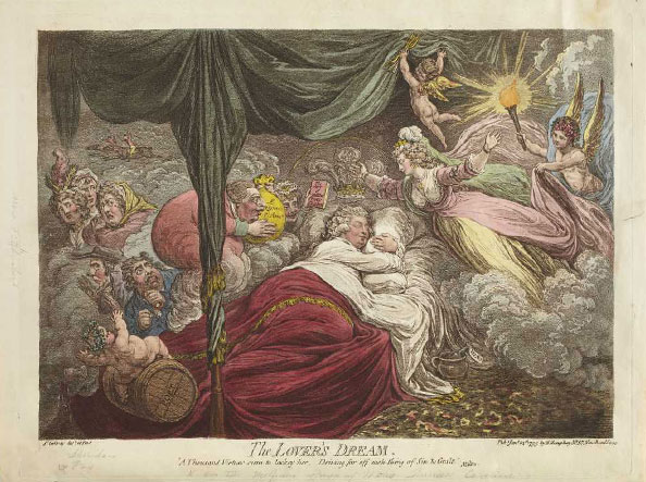 James Gillray. The Lover's Dream, 1795