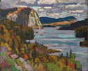 J.E.H. MacDonald (Canadian, 1873 – 1932), <em>Solemn Land, Algoma</em>, 1919, oil on composite wood-pulp board. Gift by Subscription, 1933.