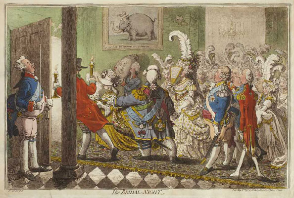 James Gillray. The Bridal Night, 1797