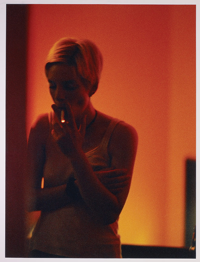 Paul Graham, Untitled (Smoking girl in orange light)