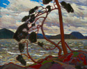 Tom Thomson (Canadian, 1877 – 1917), <em>The West Wind</em>, 1916-17, oil on canvas. Gift of the Canadian Club of Toronto, 1926.