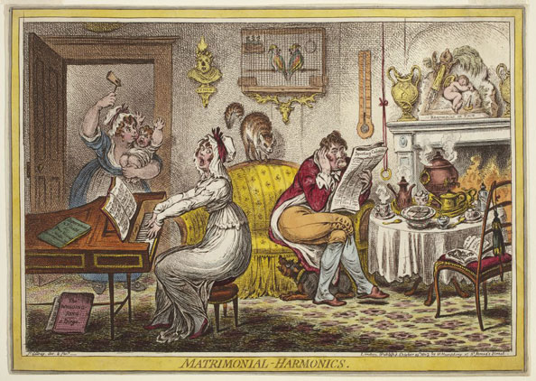 James Gillray. Matrimonial Harmonics, 1805