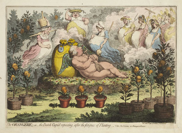 James Gillray. The Orangerie, 1796