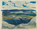 Franklin Carmichael (Canadian, 1890 – 1945), <em>Bay of Islands</em>, 1930, oil on panel.  Gift from Friends of Canadian Art Fund, 1930.