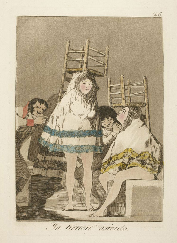 Francisco Goya y Lucientes. They've already got a seat (i.e. bottom), 1799