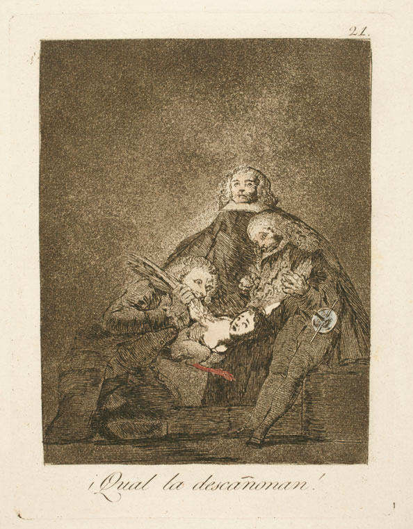Francisco Goya y Lucientes. How they pluck her!, 1799