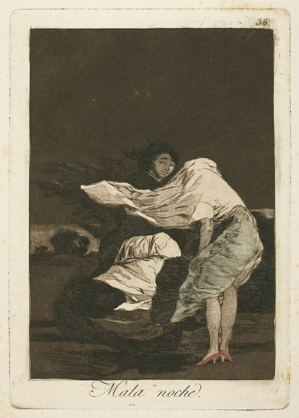 Francisco Goya y Lucientes. A bad night, 1799