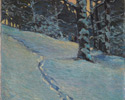 J.E.H. MacDonald (Canadian, 1873 – 1932), <em>Morning after Snow, High Park</em>, 1912, oil on canvas. Gift of Mrs. W.D. Ross, Toronto, 1952.