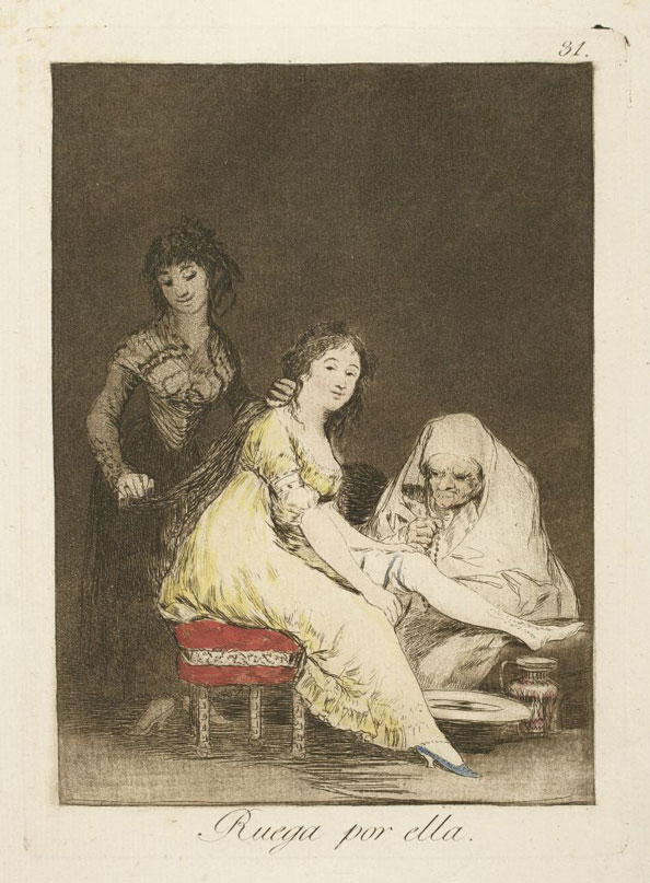 Francisco Goya y Lucientes. She prays for her, 1799