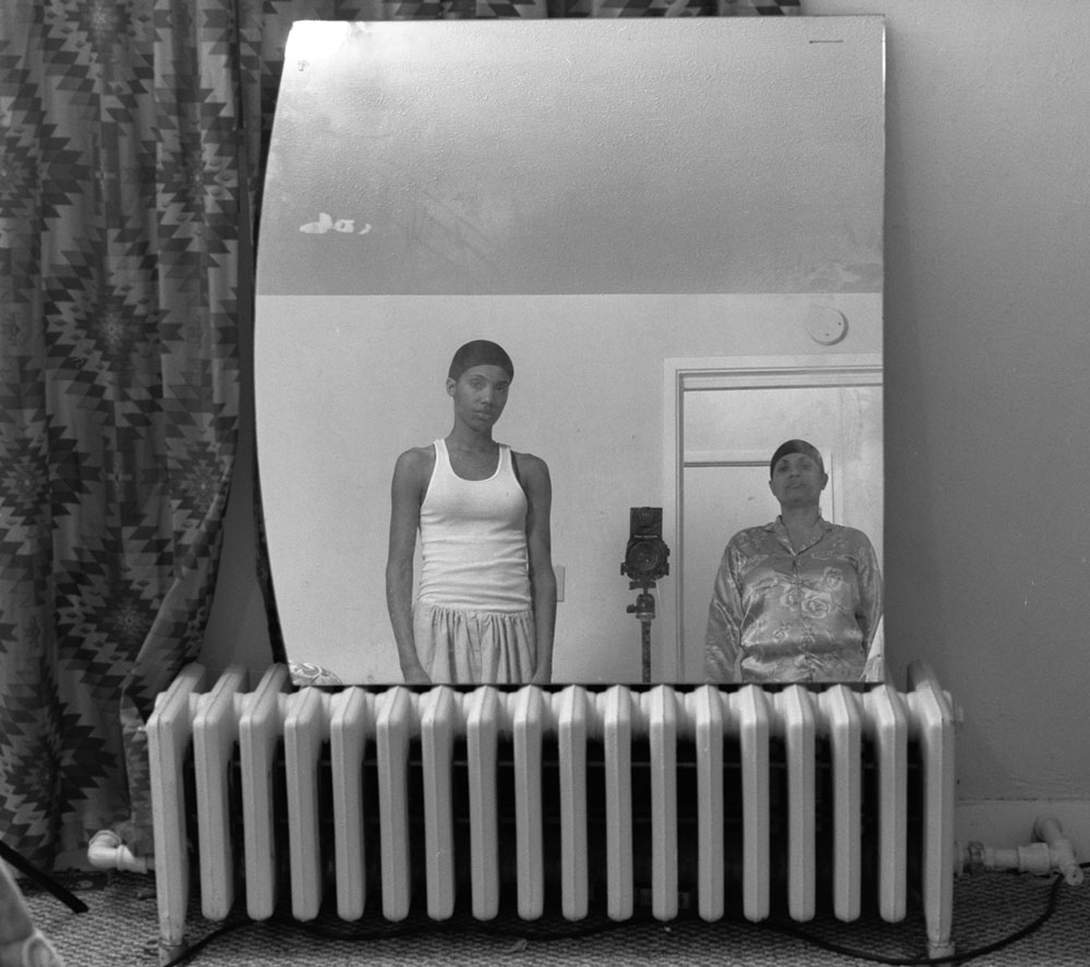 LaToya Ruby Frazier, <em>Mom Making an Image of Me</em> from the series <em>Notion of Family</em>, 2008, gelatin silver print, 50.8 cm x 60.96 cm