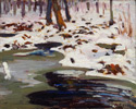John William Beatty (Canadian, 1869 - 1941), <em>Spring Break-up, Algonquin Park</em>, date unknown, oil on canvas. Gift from the Fund of the T. Eaton Co. Ltd. for Canadian Works of Art, 1953. © 2012 Art Gallery of Ontario.