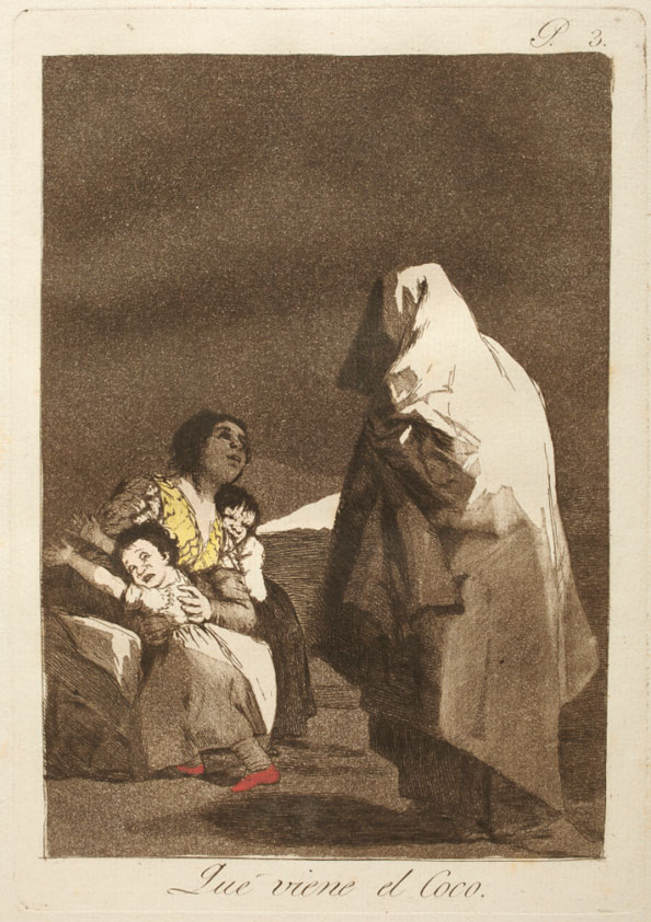 Francisco Goya y Lucientes. Here comes the bogeyman, 1799