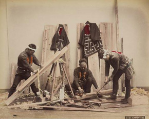 Unknown photographer, Carpenters, Japan, 1880s