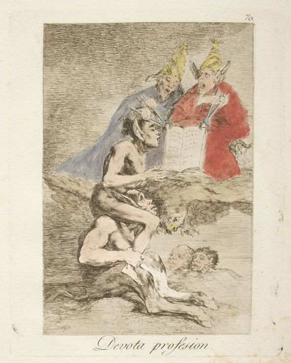 Francisco Goya y Lucientes. Devout profession, 1799
