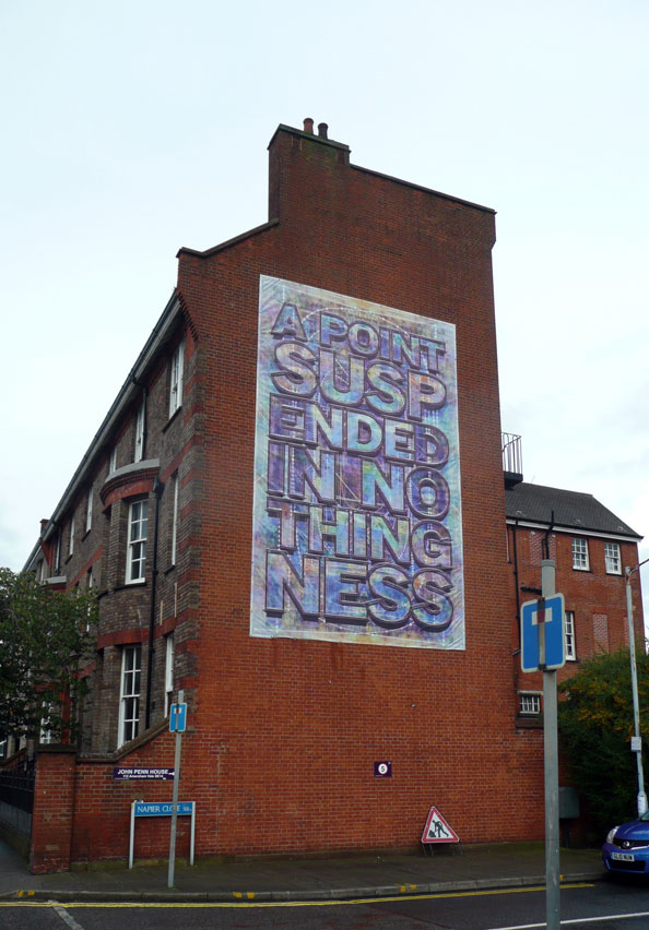 Mark Titchner, A POINT SUSPENDED IN NOTHINGNESS, 2010