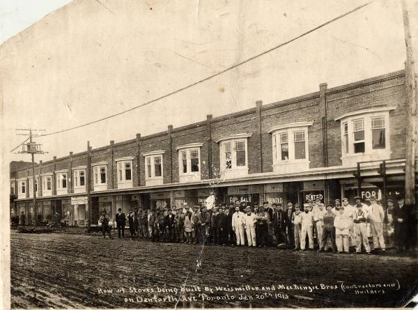 Stores on Danforth Avenue, 1913