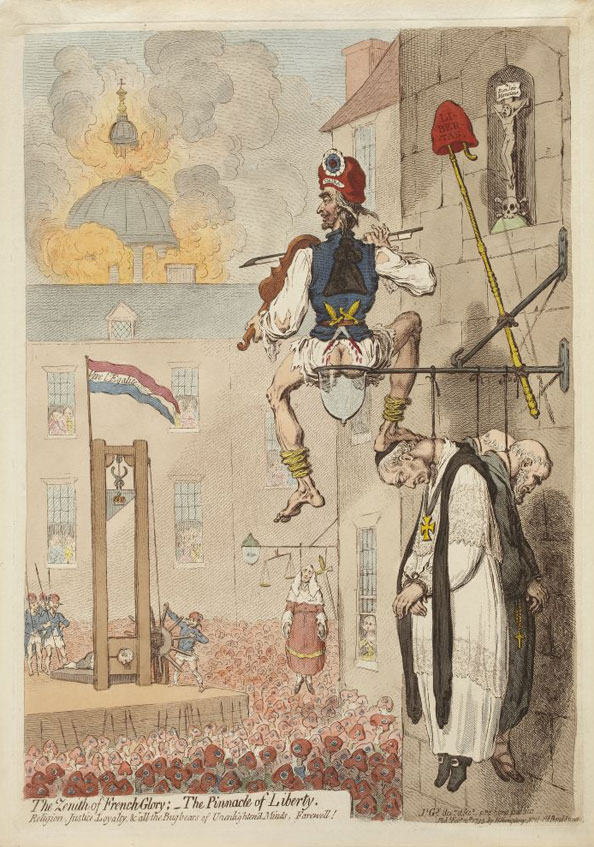 James Gillray. The Zenith of French Glory, 1793