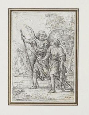 Pietro da Cortona, Tobias and the Archangel Raphael, c1640