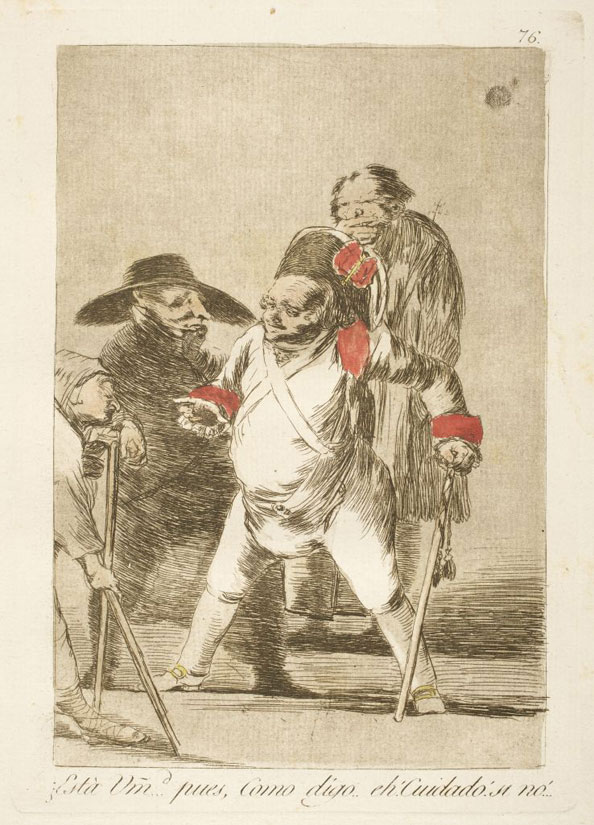 Francisco Goya y Lucientes. You understand?…well, as I say…eh! Look out! otherwise!…, 1799